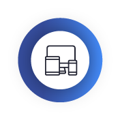 Icono que representa las ventajas de la secretaría virtual. Se ilustra con dispositivos móviles.