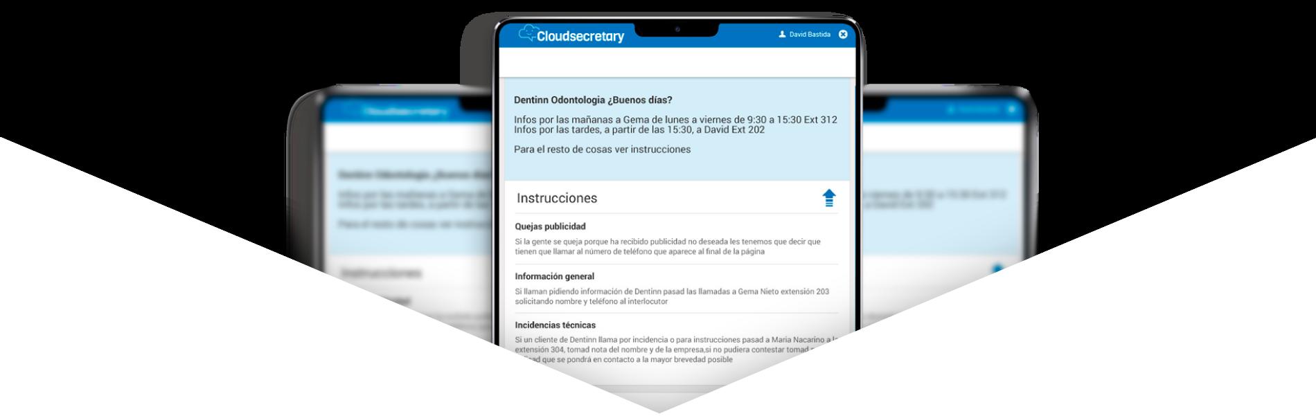 Sección de tarifas. Apartado de tablet con app